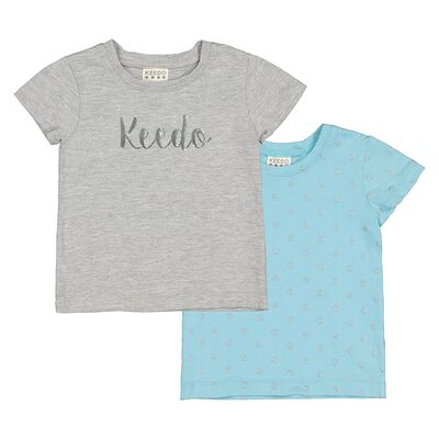 Baby Girls Aqua 2-Pack Tees