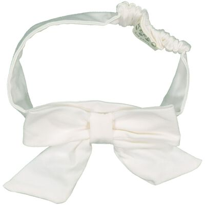 Girls White Bow Headband