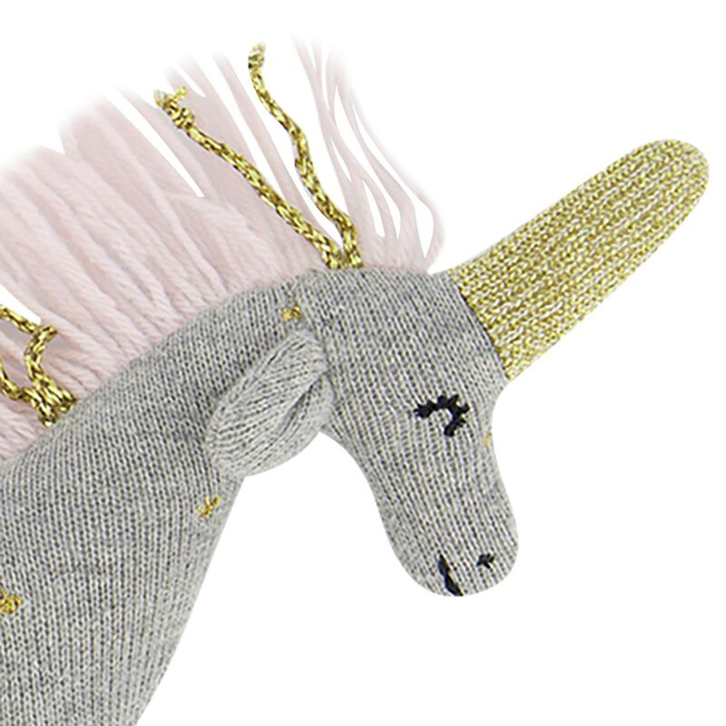Unicorn Rattle -  silvergrey