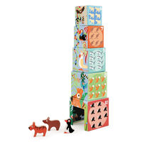 Stacking Towers: Animals of the World -  blue