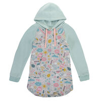 Girls Jenny Hoodie Dress  -  grey
