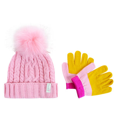 Baby Girls Lauren Beanie & Glove Set