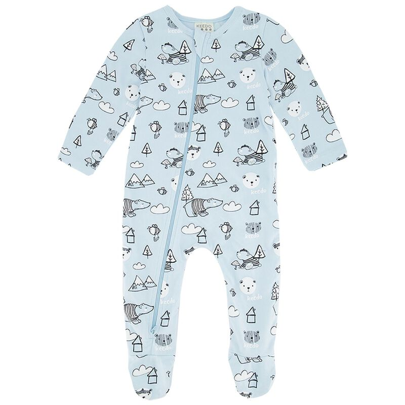 Baby Boys Will Zippy Grow -  lightblue