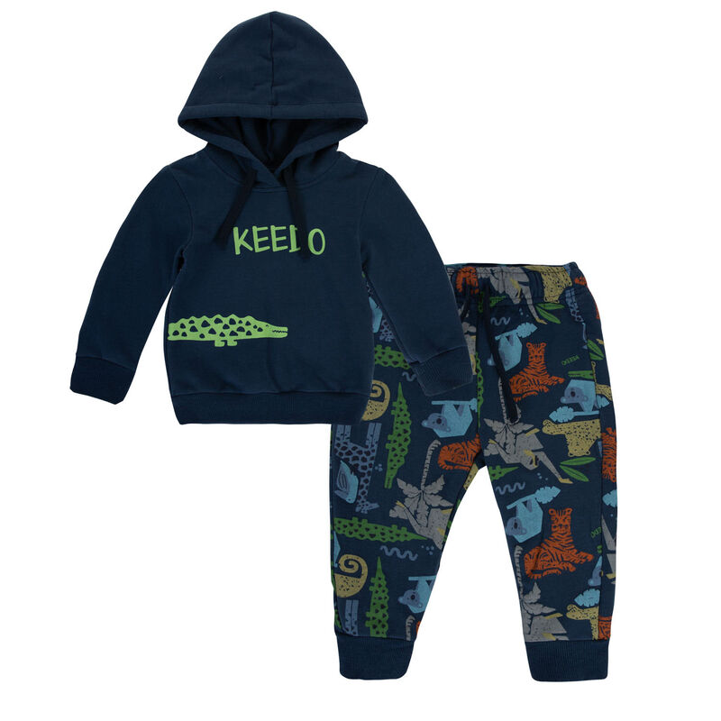 Baby Boys Levi Track Set  -  navy