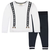 Baby Boys Finn Set -  white