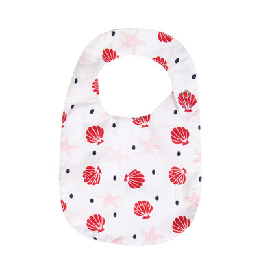 Baby Girls Pansy Bib
