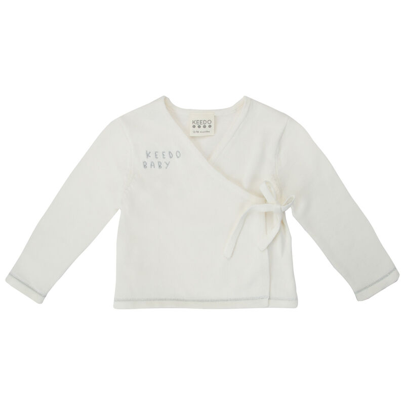 Babies Rory Wrap Cardigan -  white