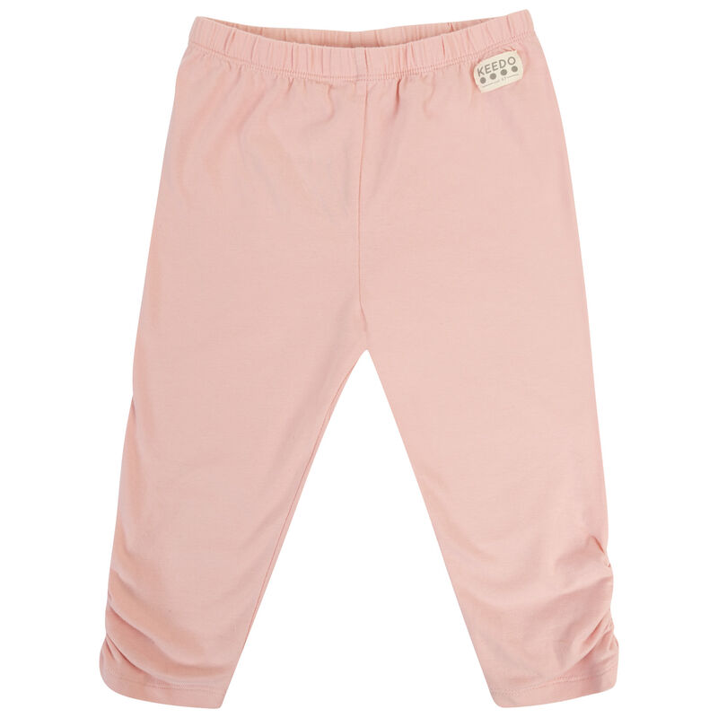 Girls Peach Rouged Leggings -  lightpink