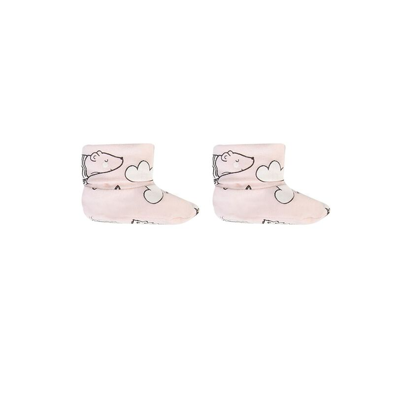 Baby Girls Emery Booties -  palepink