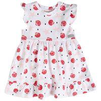 Baby Girls Pansy Flare Dress -  white
