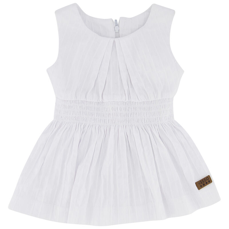 Baby Girls Lauren Dress -  white
