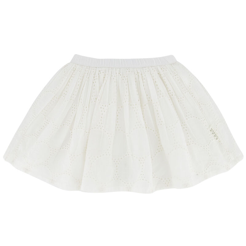 Girls Alexia Reversible Skirt -  white