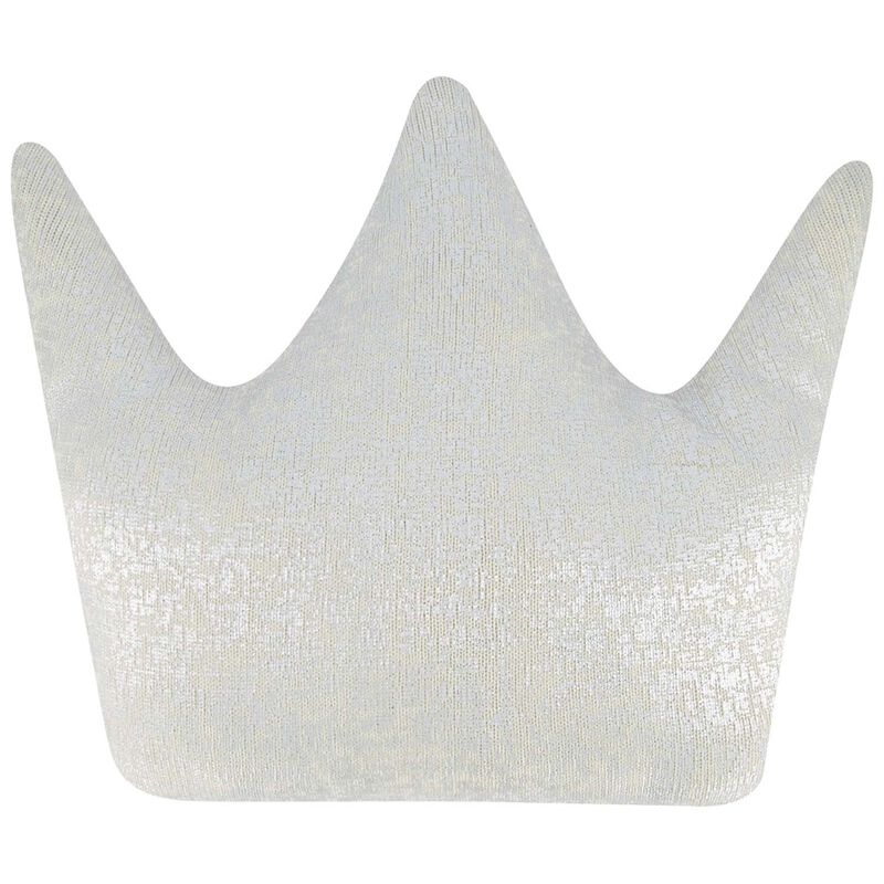 Silver Crown Shaped Cushion -  silvergrey