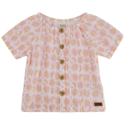 Girls Magnolia Button Top