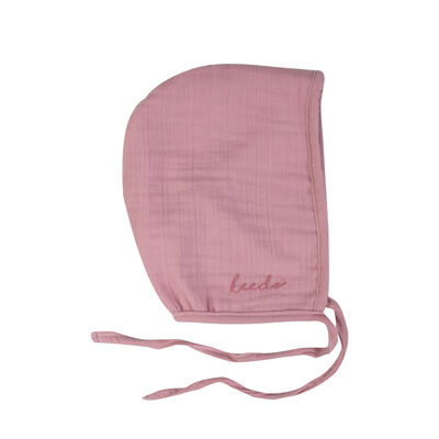 Baby Girls Lilac Muslin Bonnet
