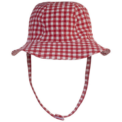 Baby Girls Check Summer Hat