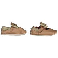 Baby Girls Girls Embroided Bow Fringe Pull On -  tan