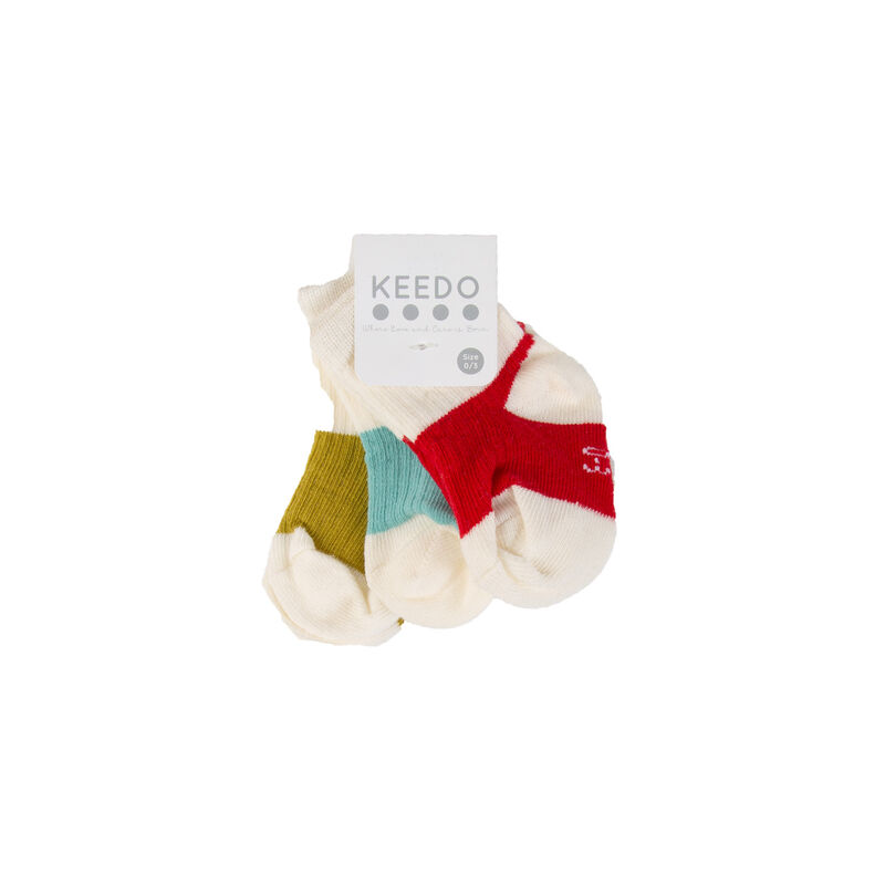 Baby Boys Hayden 3-Pack Ribbed Socks -  white