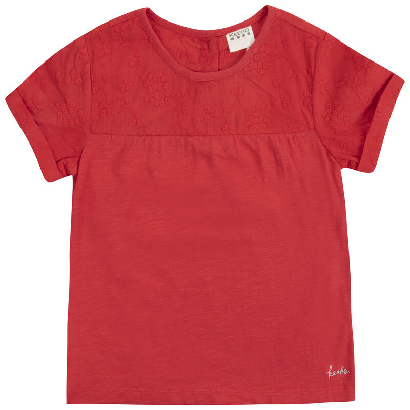 Baby Girls Holly Top -  tomato