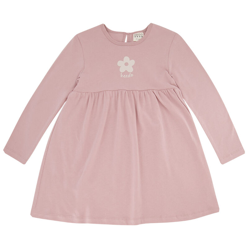 Girls Flower Dress Set -  dustypink