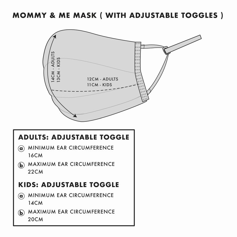 Keedmask Mommy & Me Matching Mask Set -  assorted