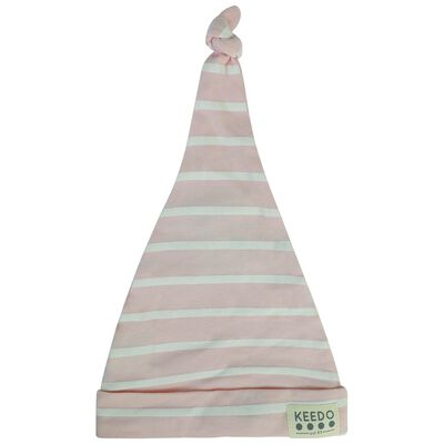 Baby Girls Rose Stripe Beanie