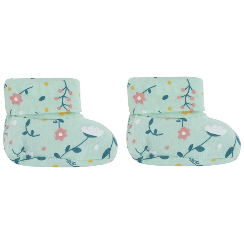 Baby Girls Mary Booties -  aqua