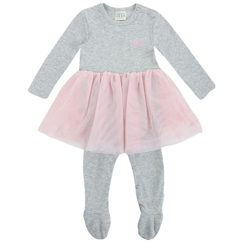 Baby Girls Olive Tutu Grow -  lightgrey