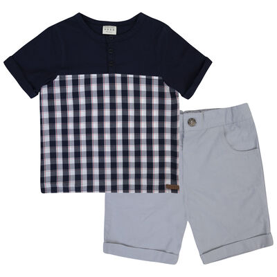 Boys Sawyer Check Set