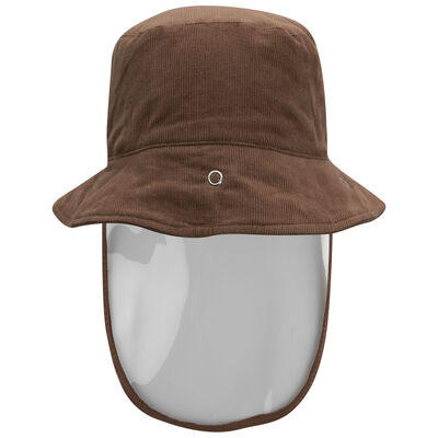 Babies Protective Brown Corduroy Bucket Hat