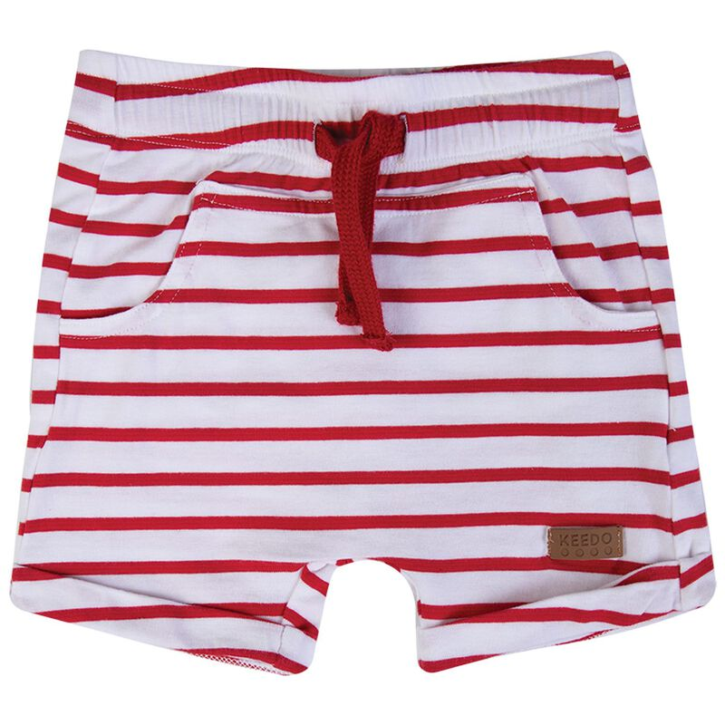 Baby Boys Seb Stripe Shorts -  tomato