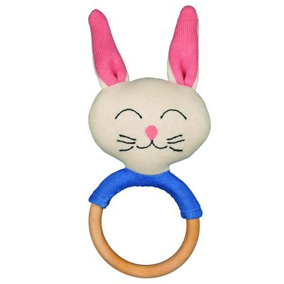 Boys Bunny Friend Wooden Teether
