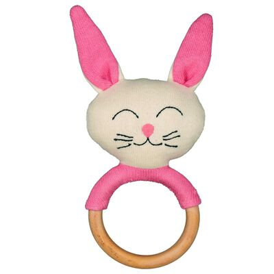 Girls Bunny Friend Wooden Teether