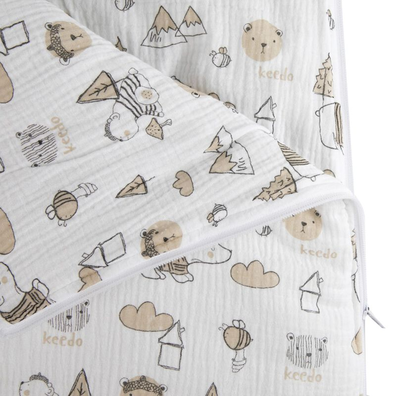 Reily Muslin Sleeping Bag -  white