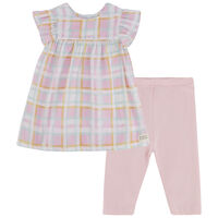 Baby Girls Dahlia Check Set -  palepink