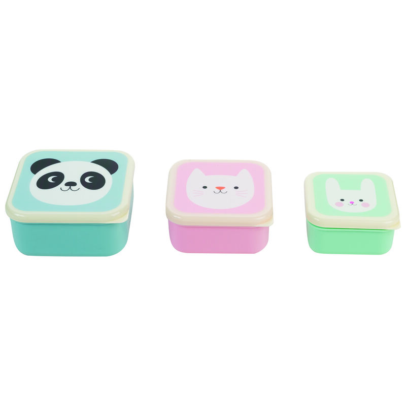 Miko & Friends Snack Boxes -  blue