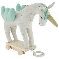 Unicorn Toy on Wheels -  milk