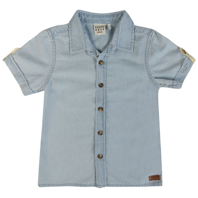 Boys Bruce Chambray Shirt -  lightblue
