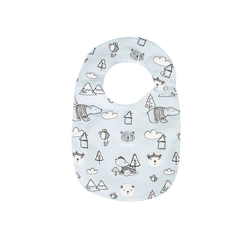 Baby Boys Will Bib -  lightblue