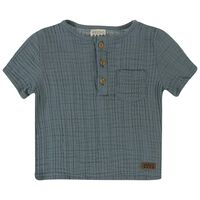 Baby Boys Ethan Muslin Shirt -  duck-egg