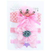Girls Carrie Headband Pack -  lightpink