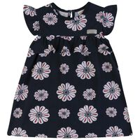 Baby Girls Azalea Frill Dress -  navy