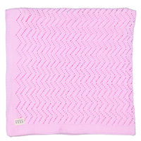 Baby Girls Lacey Pink Blanket -  palepink