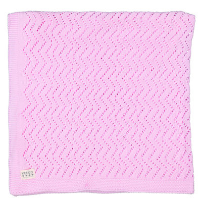 Baby Girls Lacey Pink Blanket