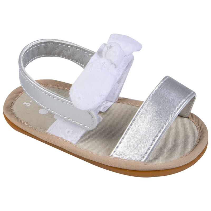 Baby Girls Charlotte Soft Sole Sandal -  white