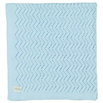 Baby Boys Lacey Blue Blanket