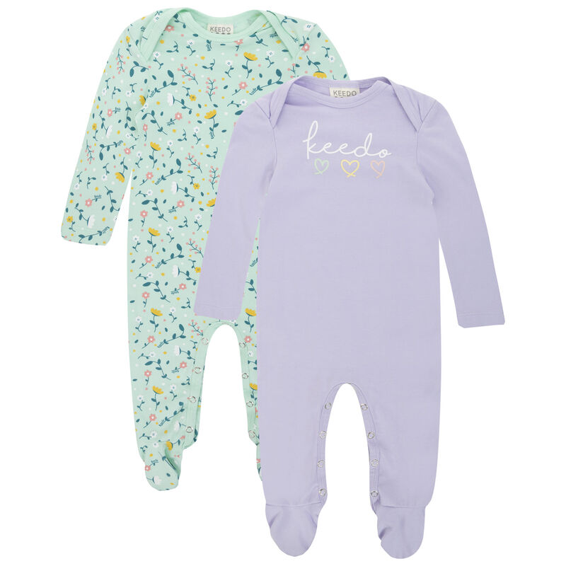 Baby Girls Hallie 2-Pack Growers -  assorted