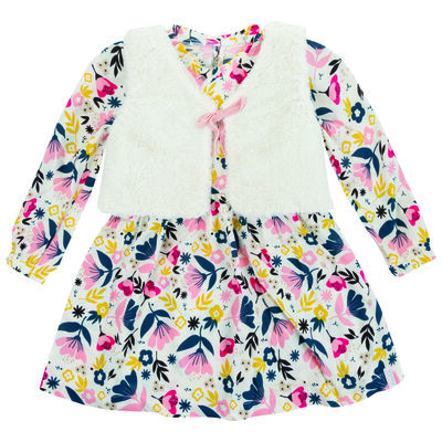 Girls Tia Dress & Gilet