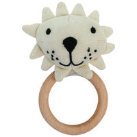 Baby Boys Lion Teether -  cream