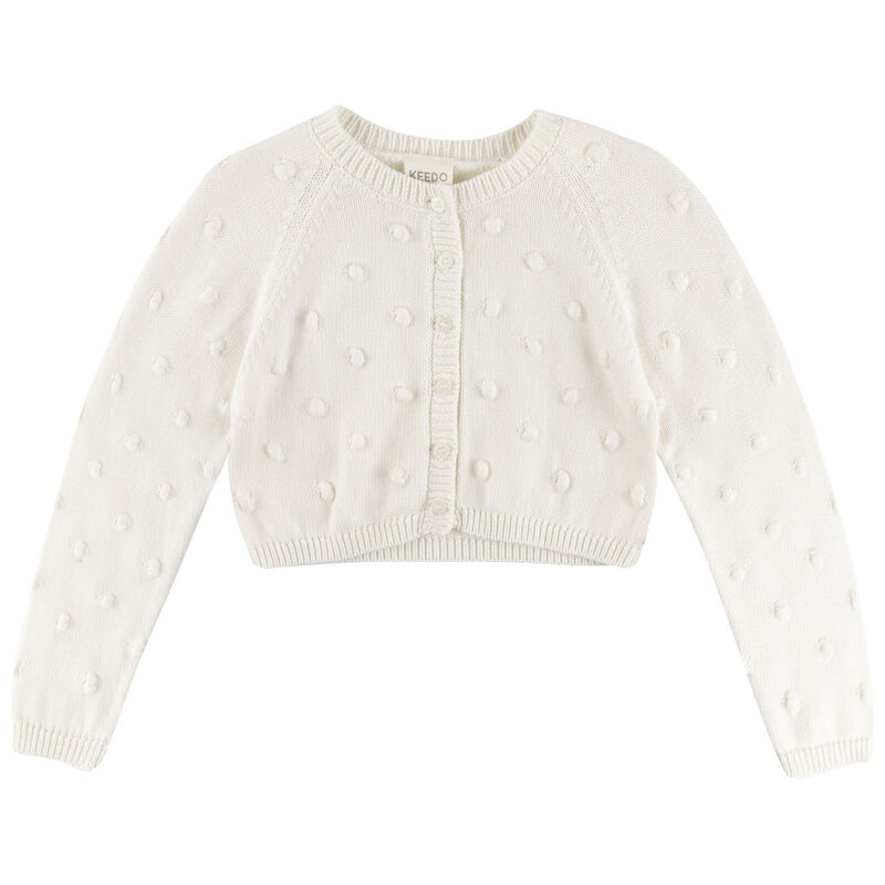 Girls Shailene Cardigan -  white